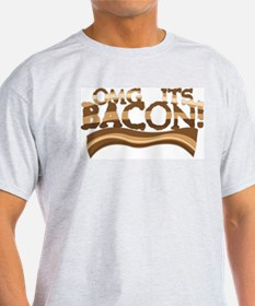 OMG Bacon! Ash Grey T-Shirt
