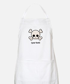 [Your text] Cute Skull Apron