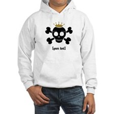 [Your text] Princess Skull Hoodie