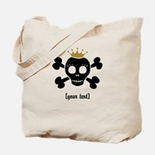 [Your text] Princess Skull Tote Bag