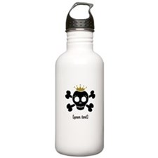 [Your text] Princess Skull Water Bottle