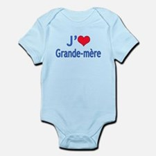 I Love Grandma (French) Infant Bodysuit