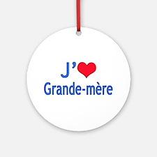 I Love Grandma (French) Ornament (Round)