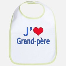 I Love Grandpa (French) Bib