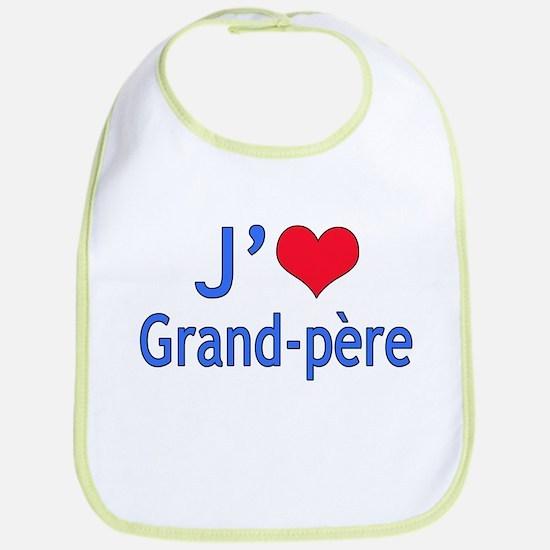 I Love Grandpa (French) Bib