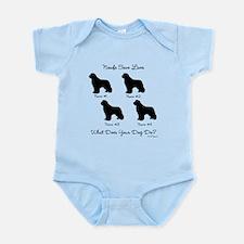 4 Newfoundlands Infant Bodysuit