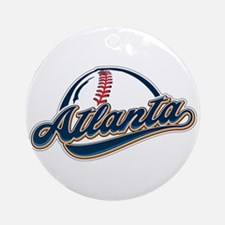 ATLANTA BASEBALL Round Ornament