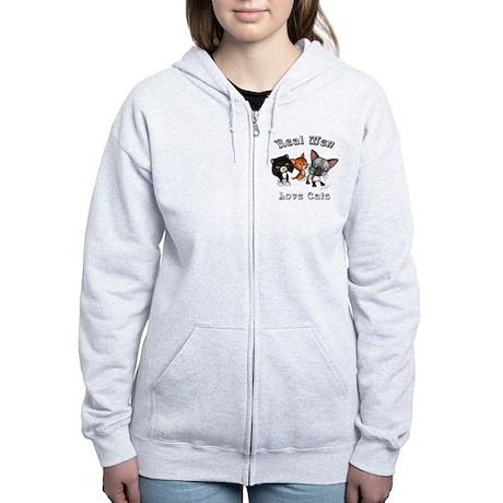 Real Men Love Cats Women's Zip Hoodie