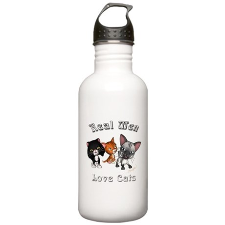 Real Men Love Cats Stainless Water Bottle 1.0L