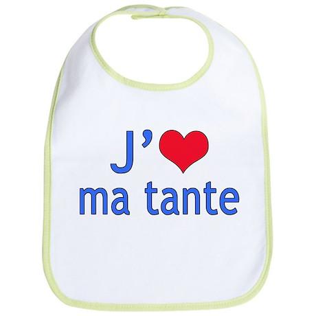 I Love Aunt (French) Bib
