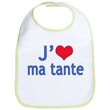 I Love Aunt (French) Bib