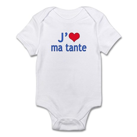 I Love Aunt (French) Infant Bodysuit