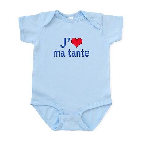 I Love Aunt (French) Infant Bodysuit