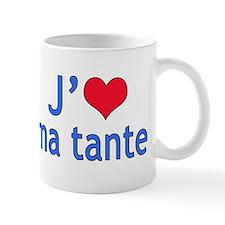 I Love Aunt (French) Small Mug