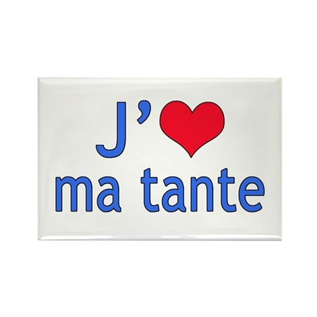 I Love Aunt (French) Rectangle Magnet