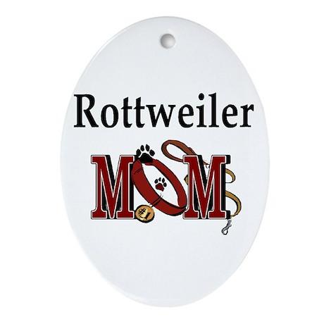 Rottweiler Mom Oval Ornament