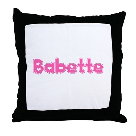 """Babette"" Throw Pillow"