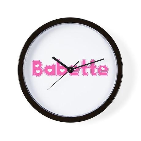 """""""Babette"""" Wall Clock"""