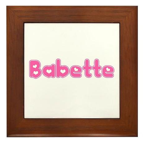"""""""Babette"""" Framed Tile"""