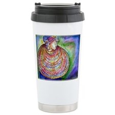 African Lady, Colorful, art, Travel Mug
