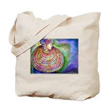 African Lady, Colorful, art, Tote Bag