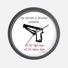 The ultimate in feminine protection Wall Clock