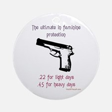 The ultimate in feminine protection Ornament (Roun