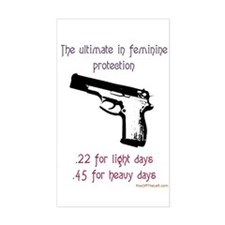 The ultimate in feminine protection Bumper Stickers