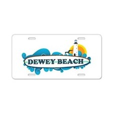 Dewey Beach DE -Surf Design Aluminum License Plate