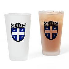 Quebec Flag Patch Pint Glass