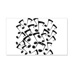 MUSICAL NOTES III 22x14 Wall Peel