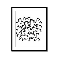 MUSICAL NOTES III Framed Panel Print