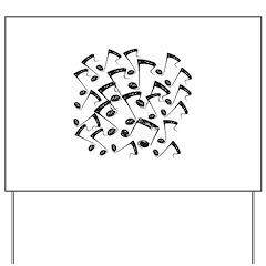MUSICAL NOTES III Yard Sign