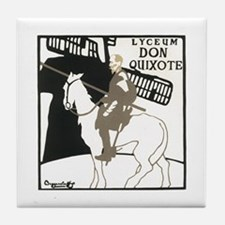 Don Quixote 1896 Poster Tile Coaster