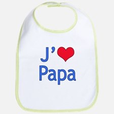 I Love Dad (French) Bib