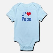 I Love Dad (French) Infant Bodysuit