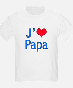 I Love Dad (French) T-Shirt