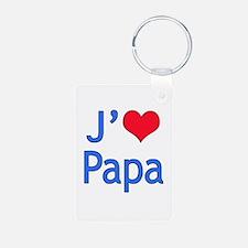 I Love Dad (French) Keychains