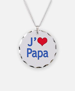 I Love Dad (French) Necklace