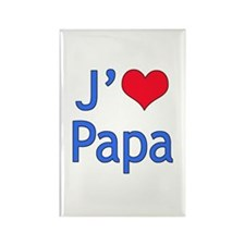 I Love Dad (French) Rectangle Magnet