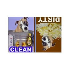 Pit Bull Terrier (Tan,Blk,White) Rectangle Magnet