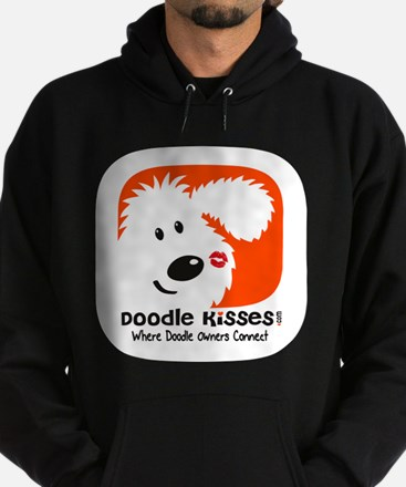 Unique Doodle kisses Hoodie (dark)