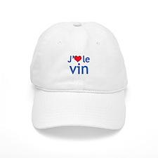 I Love Wine (French) Baseball Baseball Cap