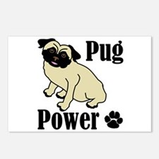 Pug Power Postcards (Package of 8)