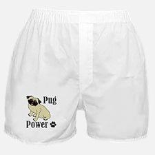 Pug Power Boxer Shorts