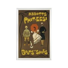 Boots and Shoes 1895 Poster Rectangle Magnet