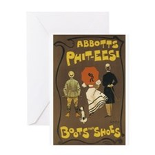 Boots and Shoes 1895 Poster Greeting Card