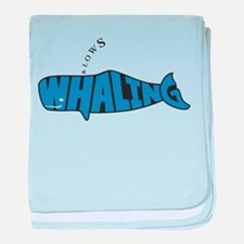 Cute Save the whales baby blanket