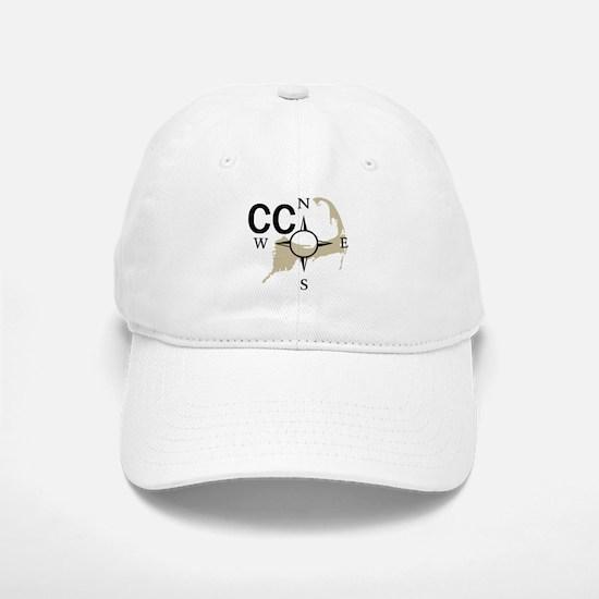 Cape Cod - Compass Baseball Baseball Cap