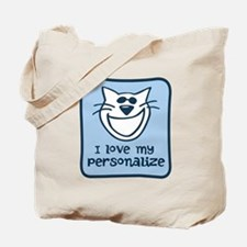 Personalized Love My Cat Tote Bag